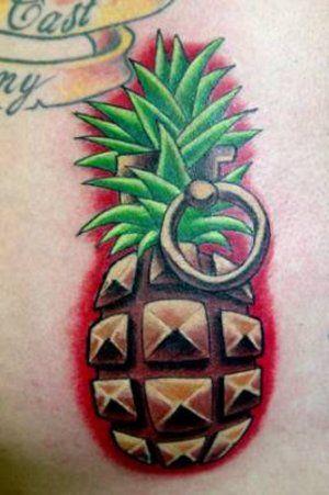 8fbf221e Pineapple grenade tattoo   Grenade Tattoos   Grenade tattoo, Tattoos ...