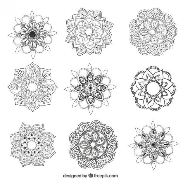 Mandalas Collection Mandala Tattoo Mandala Vector Mandala Design Art