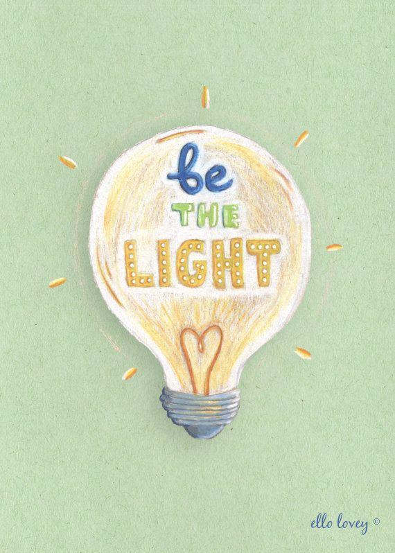 Être la lumière - Art Print -5 x 7 sur Etsy, 9,06 €