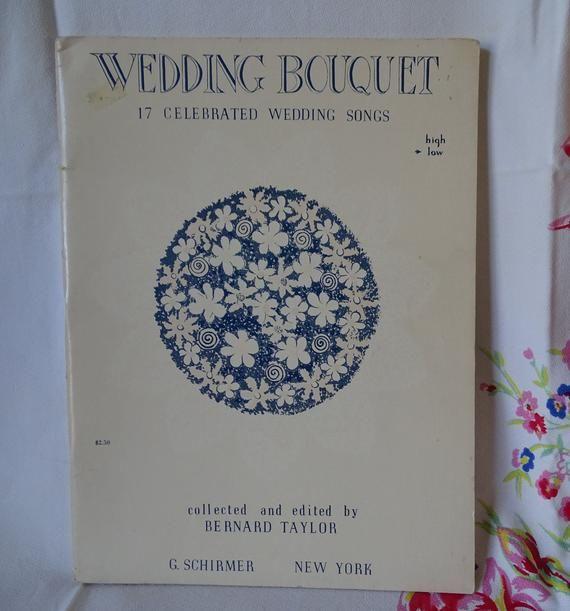 Vintage Wedding Music Book, 17 Popular Wedding Songs, 1958