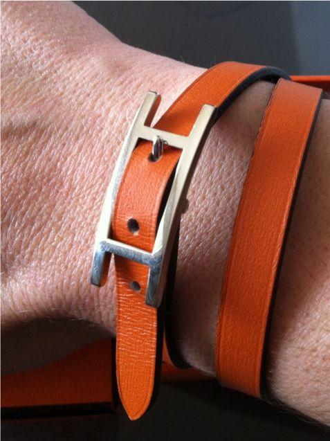 8860565440a1 Hermes Hapi bracelet (reverses to black)