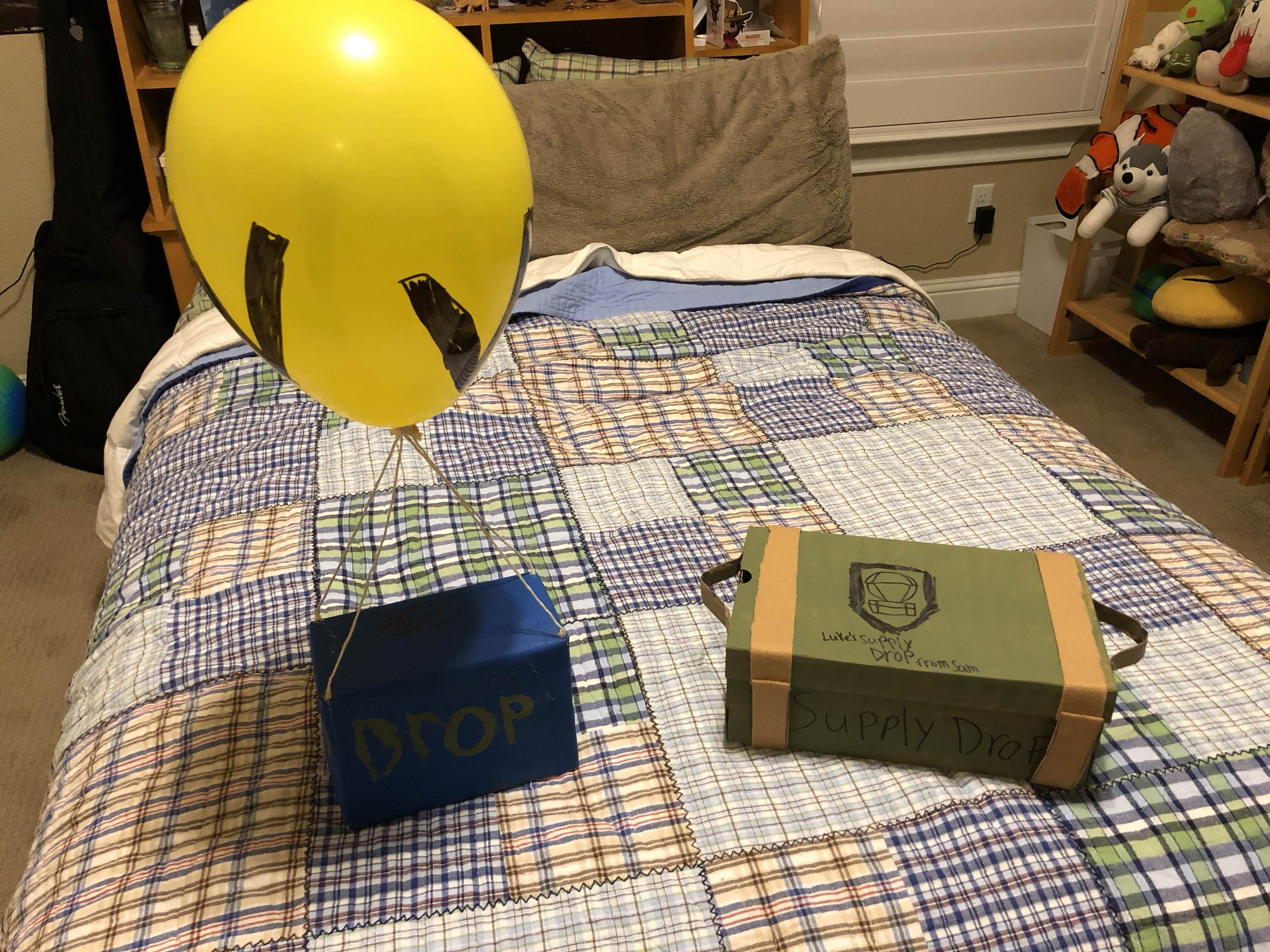 My Son Made Fortnite And Call Of Duty Themed Gift Boxes For His Two