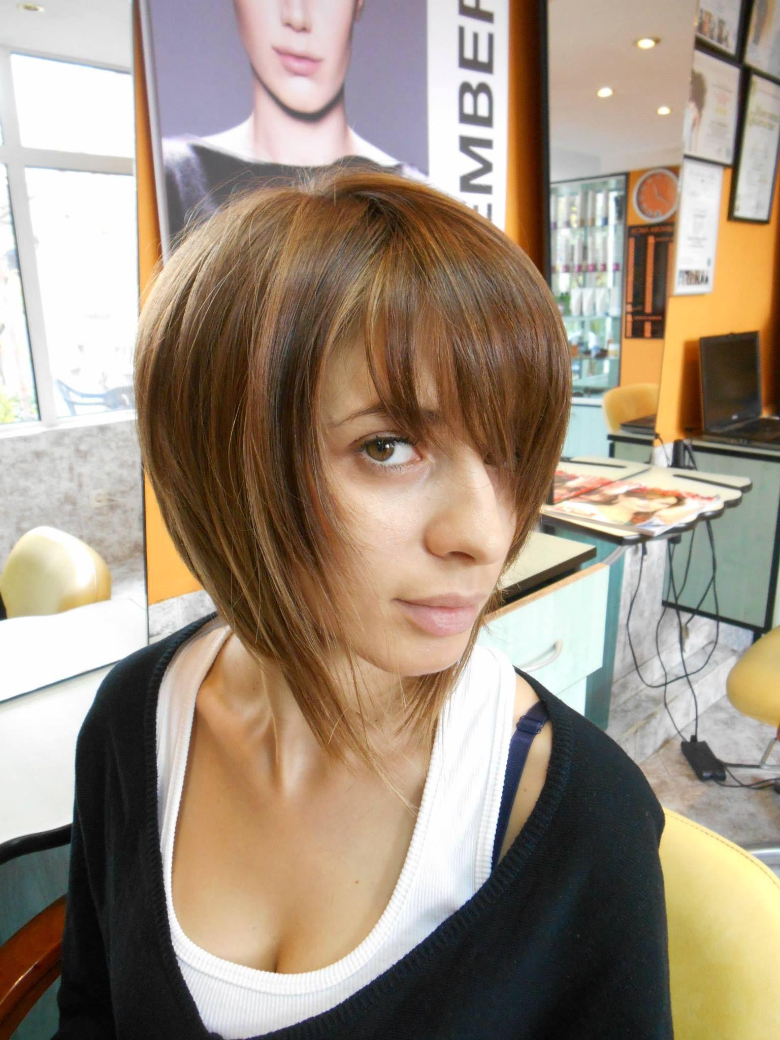 Carré plongeant effilé   Passion Carré   Short hair styles   Short hair styles, Hair styles, Hair