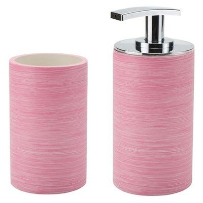 Gedy By Nameeks Sole 2 Piece Bathroom Accessory Set Color Pink