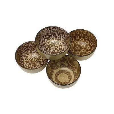 Fuji Merchandise BH26-AS 4PC Bowl Set One Size Brown