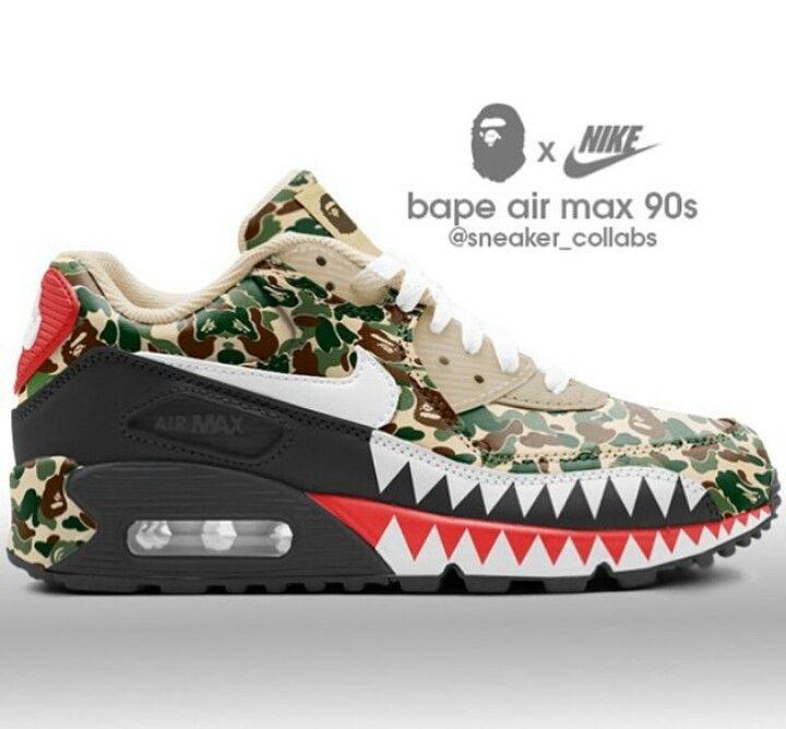 size 40 d673e 83d12 Nike 90 x Bape  nike in 2019  Pinterest  Nike shoes, Nike sh