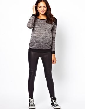 c13a188b12f09 ASOS New Look Maternity Wet Look Legging | Style the Bump | Wet look ...