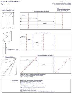 folded card templates