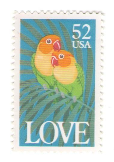 10 Unused 1991 Fischer's Lovebirds  Vintage by MyVintagePostOffice
