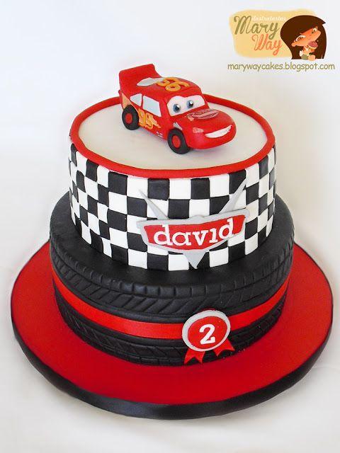 """Cars Lightning McQueen"" Birthday Cake"