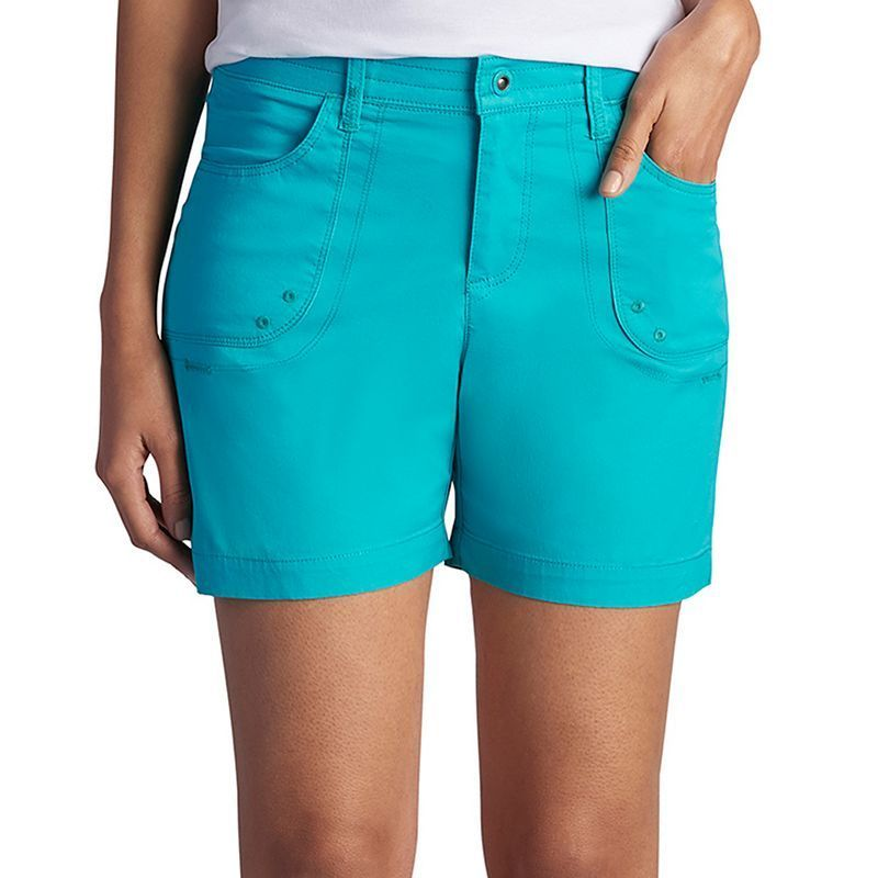 Lee, Women's  Libby Relaxed Fit Twill Shorts, Size: 8 - regular, Turquoise/Blue (Turq/Aqua)