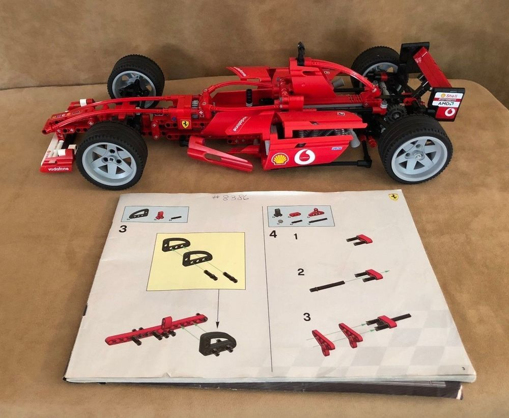8386 Lego Complete Racers Ferrari F1 Racer Technic Race Car Instructions Lego Lego Racers Ferrari F1 Ferrari