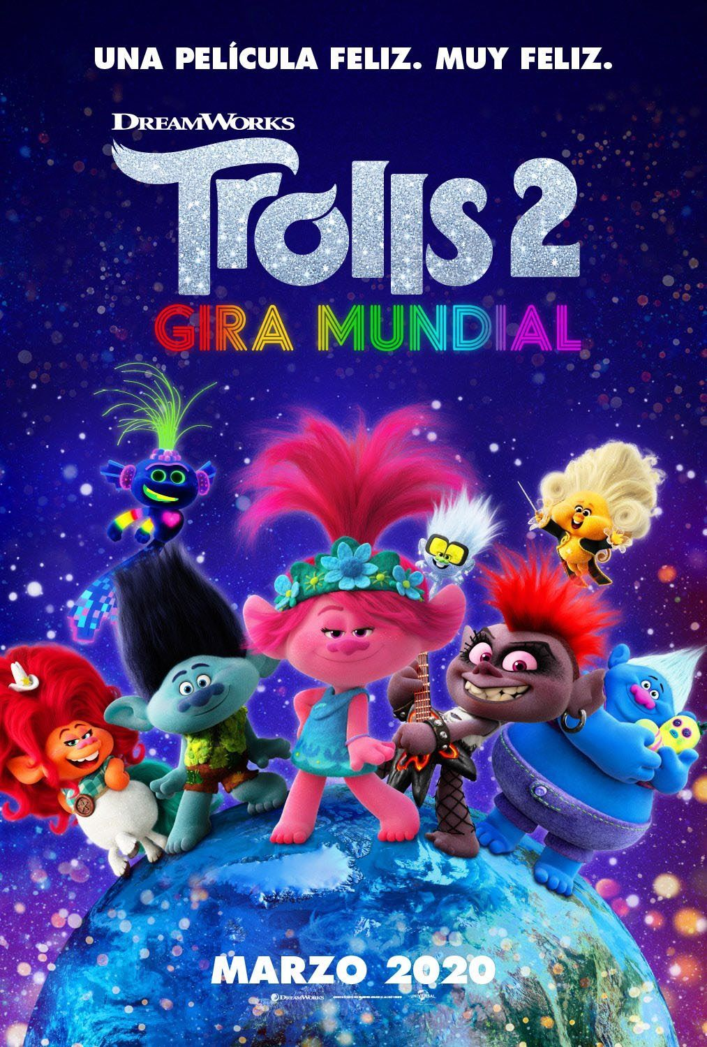 2020 Trolls 2 Gira Mundial Trolls World Tour In 2020 Movies