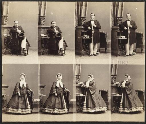 Disdri Andr Adolphe Eugne 1819 1889 M Et Mme Tacoleff En Huit