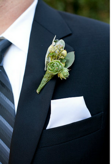 Succulent corsages for groom & groomsmen