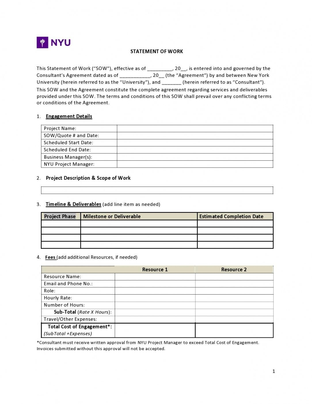 Get Our Example Of Marketing Statement Of Work Template Swot Analysis Template Statement Of Work Statement Template