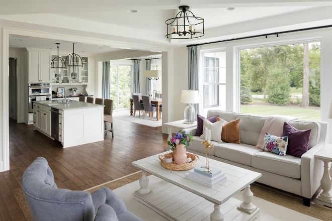Kitchen Breakfast Nook And Family Room Open Layout Family Home