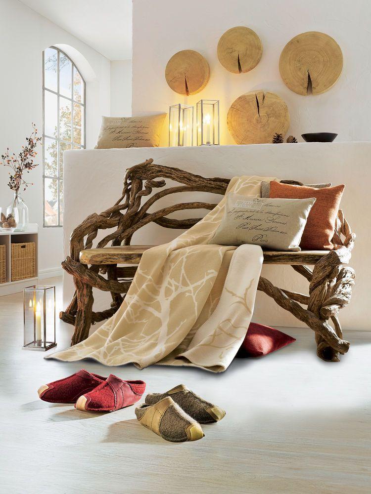 D co int rieure style chalet norv gien banc lianes naturel chaleureux ambiance montagne - Deco ambiance chalet ...
