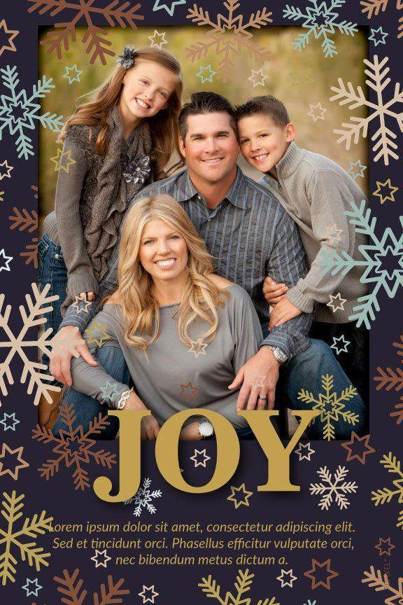 Holiday Photo Card - Joy (Navy) | Christmas cards online, Holiday ...
