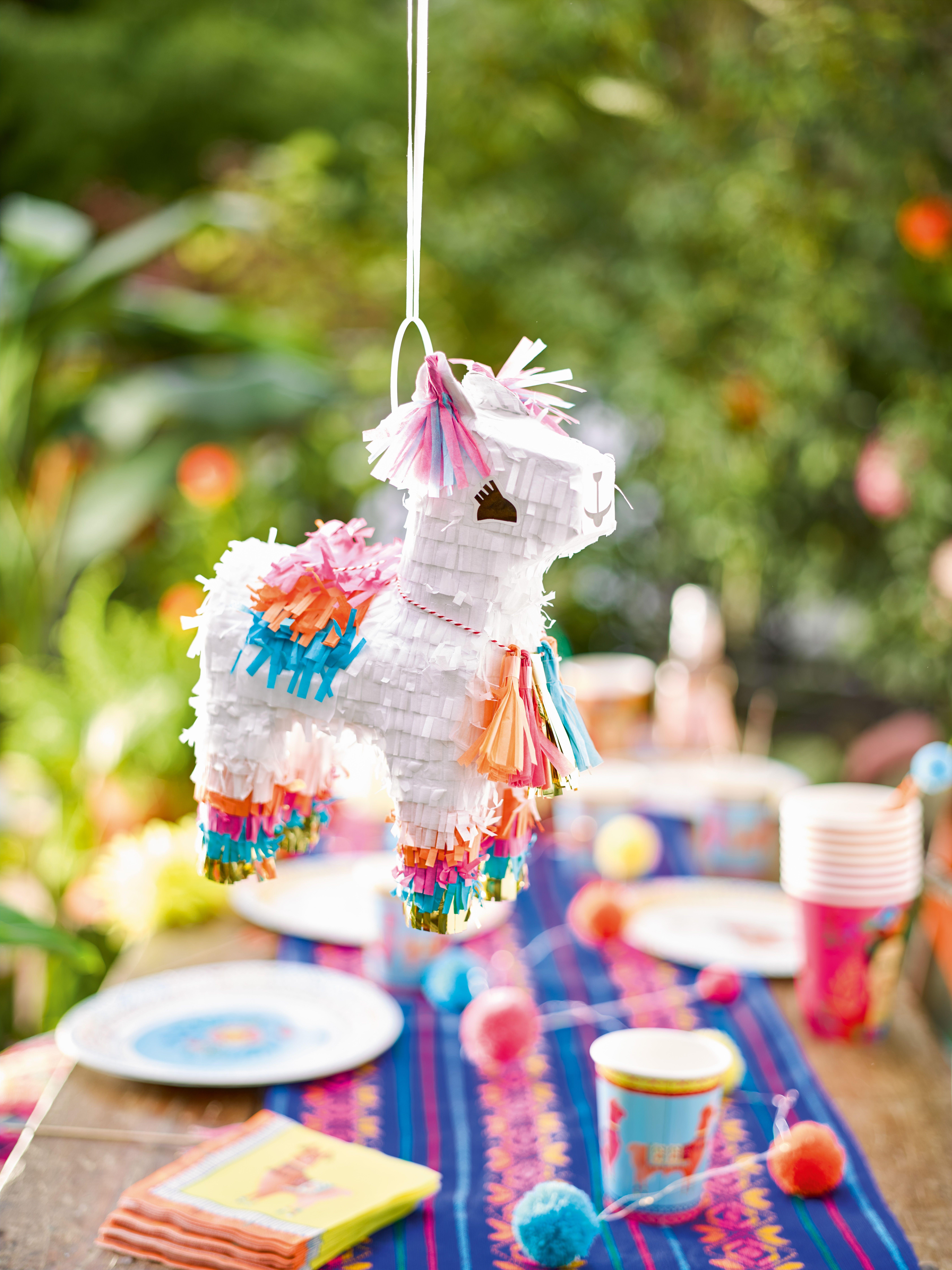 Boho llama pinata llama birthday birthday printables
