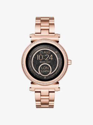 cafd635bbce7 El reloj inteligente Sofie de Michael Kors.