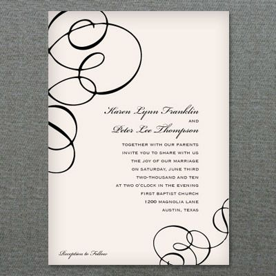 Whimsical Streamers Invitation Template