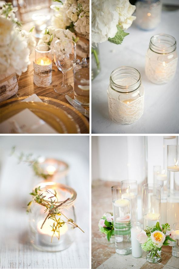 Wrapped Wedding Candles Ideas For Candle Centerpieces Weddings Place 590x887