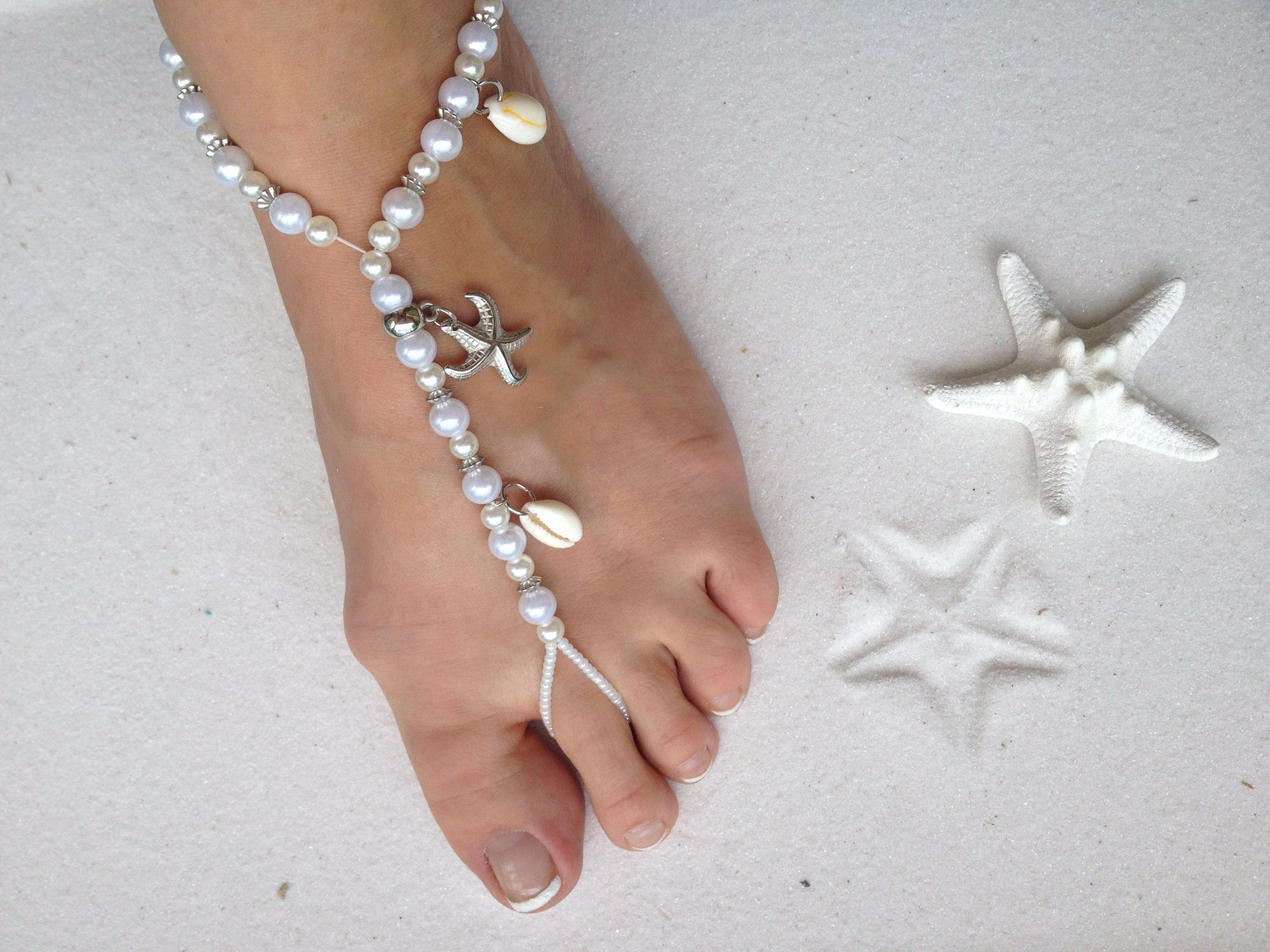 pin forever sandals palace wedding bracelet for beaded soles boho gift anklet by gold barefoot woman bridal style jewelry