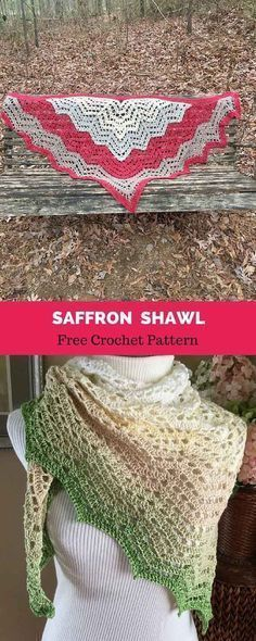 Saffron Shawl Free Crochet Pattern Shawlsponchosscarfsscrugs