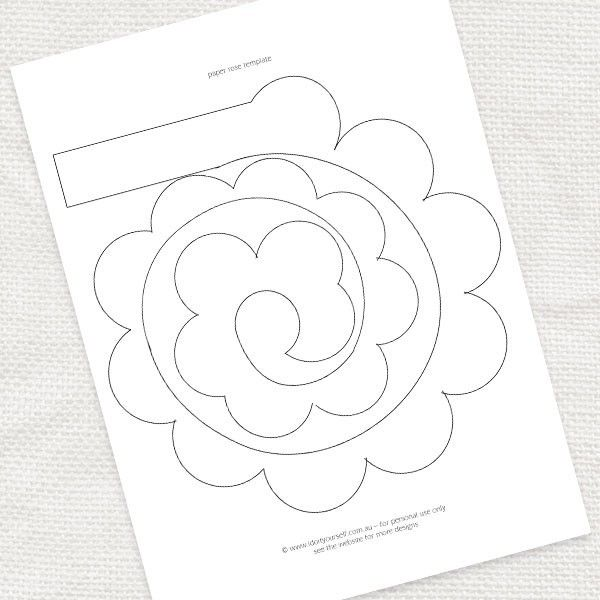 FREE paper rose template and lots of other lovely printables