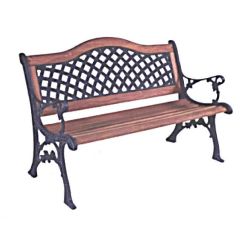 Hampton Bay Wood Weave Patio Bench-34068 at The Home Depot | Garden ...