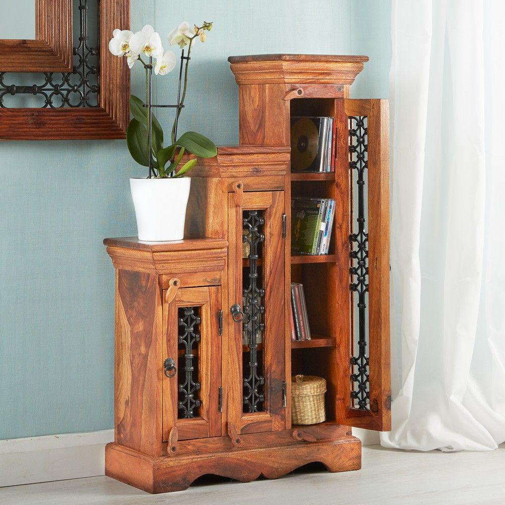 Jali Sheesham Step CD Cabinet