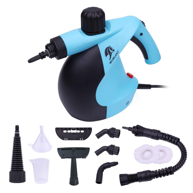 Mlmlant Handheld Pressurized Steam Cleaner 11 Piece Accessory Set Multi Purpose Multi Surface Steam Cleaners Upholstery Cleaning Machine Cleaning Upholstery