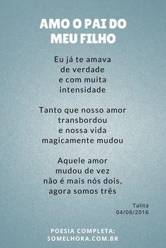 Amo O Pai Do Meu Filho Poesia De Dia Dos Pais Inspiraçao