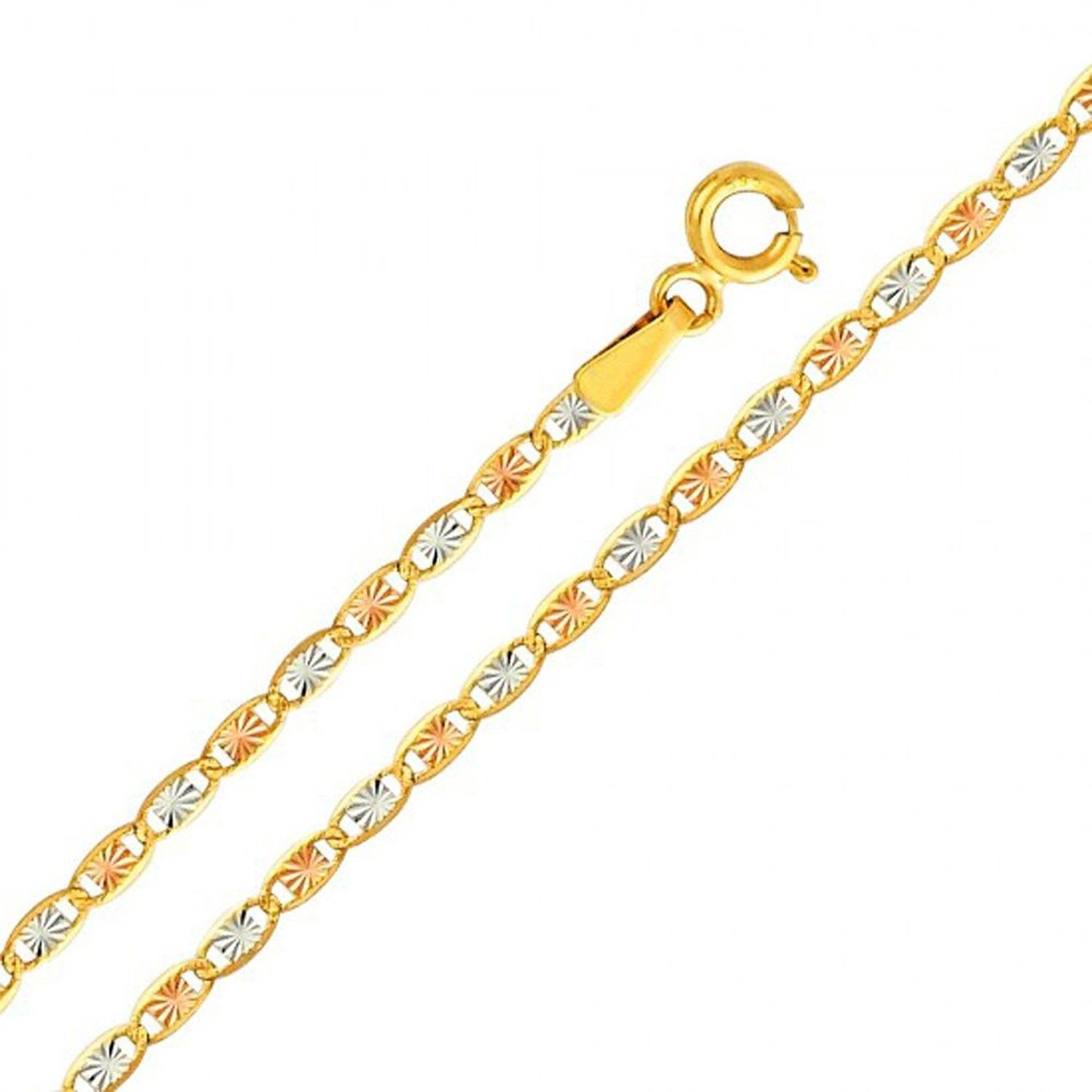 chain link gold yellow cut franco inch chains diamond