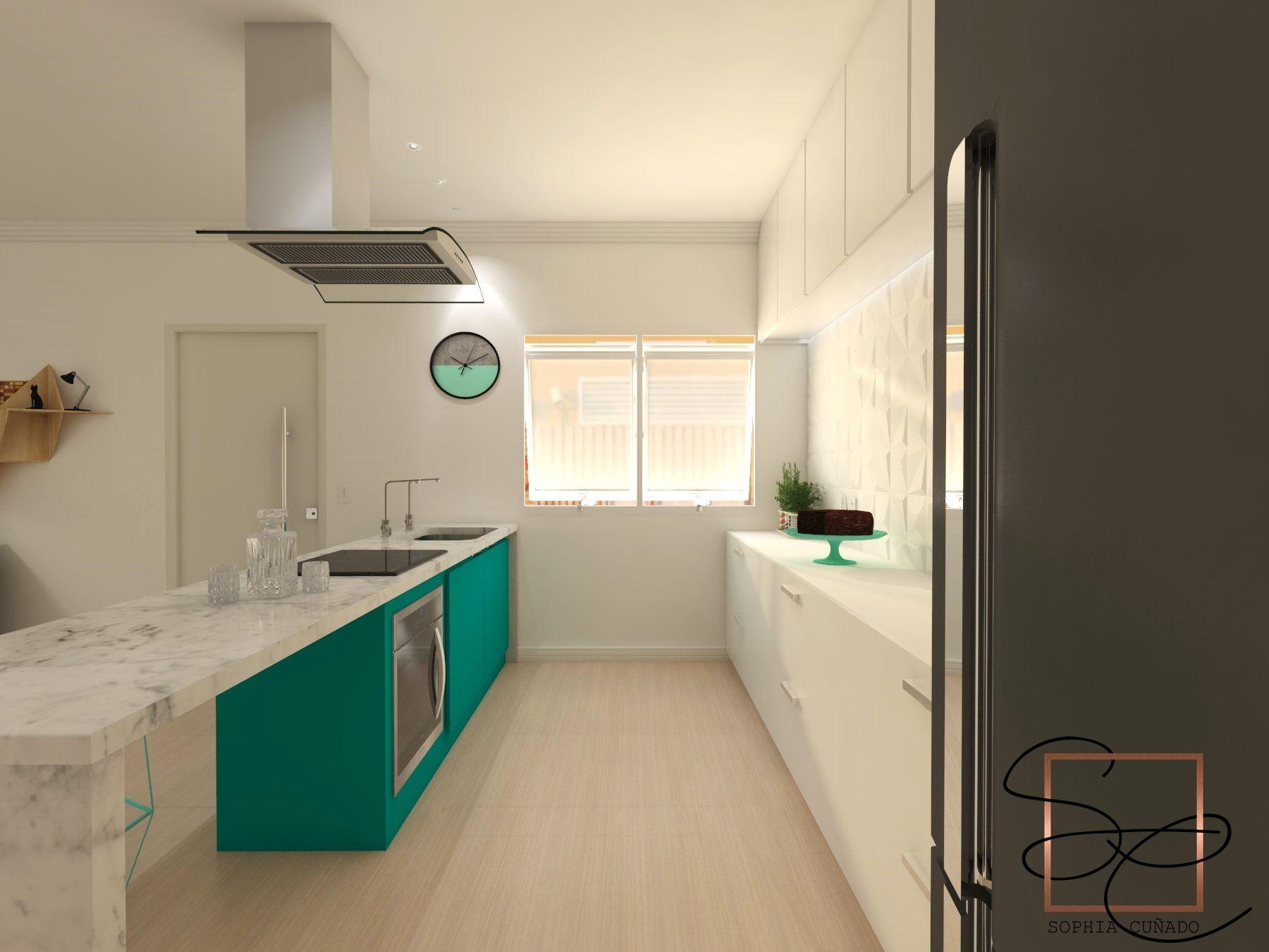 Cozinha Corredor Moderna Projeto E Maquete Eletr Nica Por Sophia