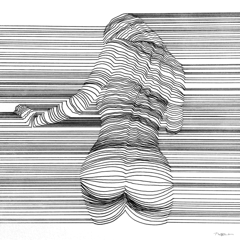 3d Line Drawing : Sensual d line art by nester formentera contours