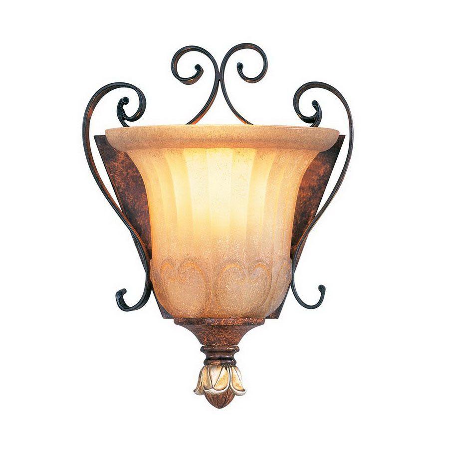 Livex Lighting Villa Verona 7.75-In W 1-Light Verona Bronze Arm ...