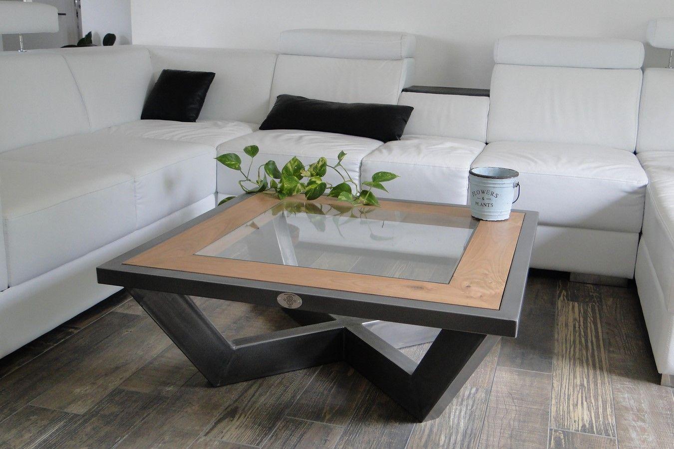 Conception Et Fabrication De Mobilier Contemporain Acier Boismetal  # Meuble Tv Artisanal