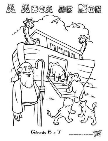 arca de noe colorir | BIBLIA | Pinterest | Dominical, Arca de noé y ...
