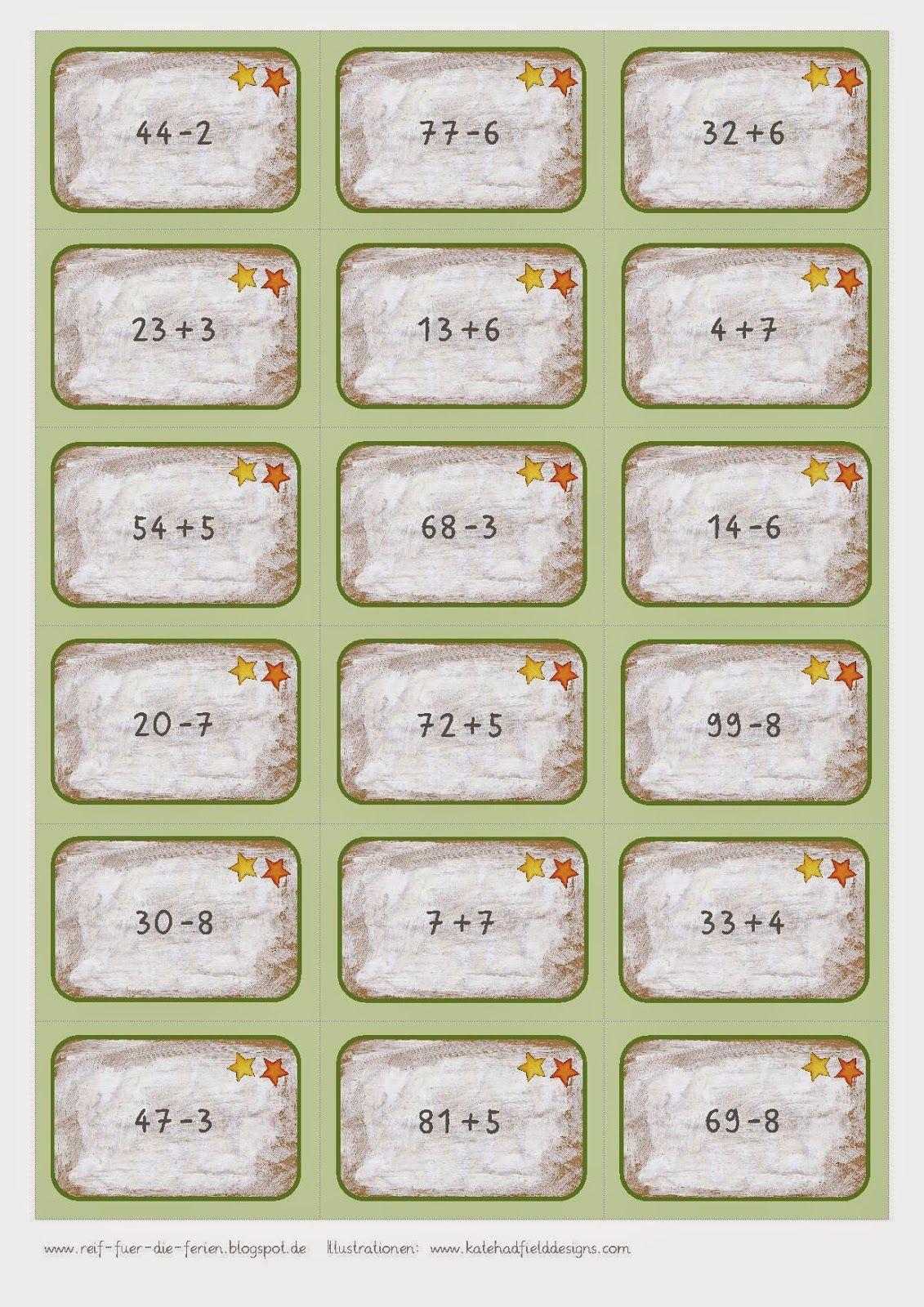Mathe-Bingo bis 100 ohne ZÜ | Mathe - ZR 100 | Pinterest | Mathe und ...