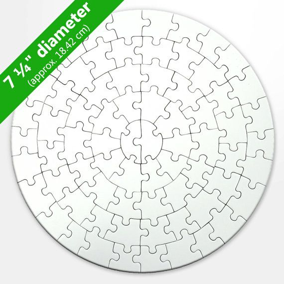 Round Blank Puzzle (72 Pieces) | Templates, Round puzzles ...