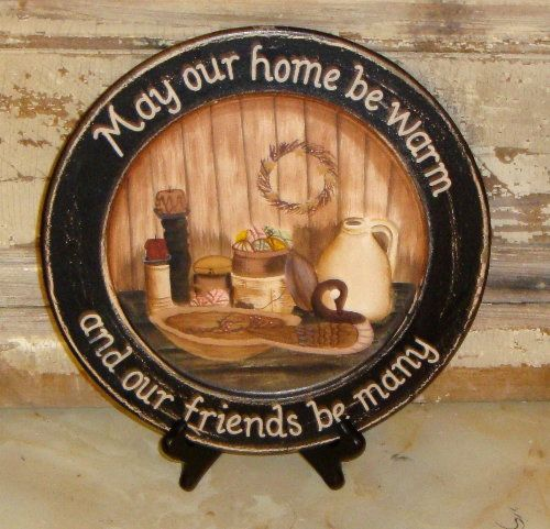 May Our Home Be Warm Decorative Plate