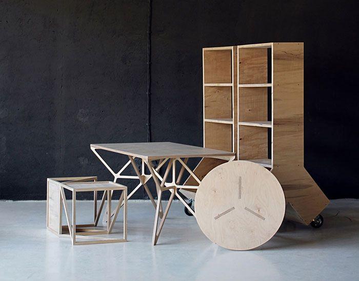 Plywood desk Design by Dontdiy & Plywood desk Design by Dontdiy | CNC \u0026 [Ply] Wood by Ontwerpburo ...