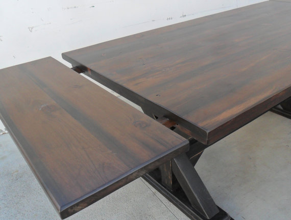8 Ft Breadboard Extension Table Dining Reclaimed Wood Salvaged Pine