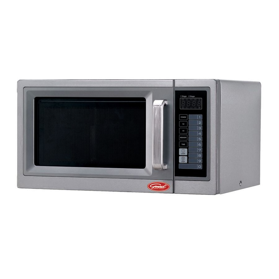 General 1 Cu Ft 1000 Countertop Microwave Stainless Steel Gew1000e In 2020 Countertops Microwave Stainless Steel
