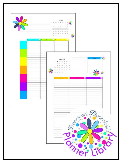 Printable Pdf Planner Organizer Homeschool Calendar Week