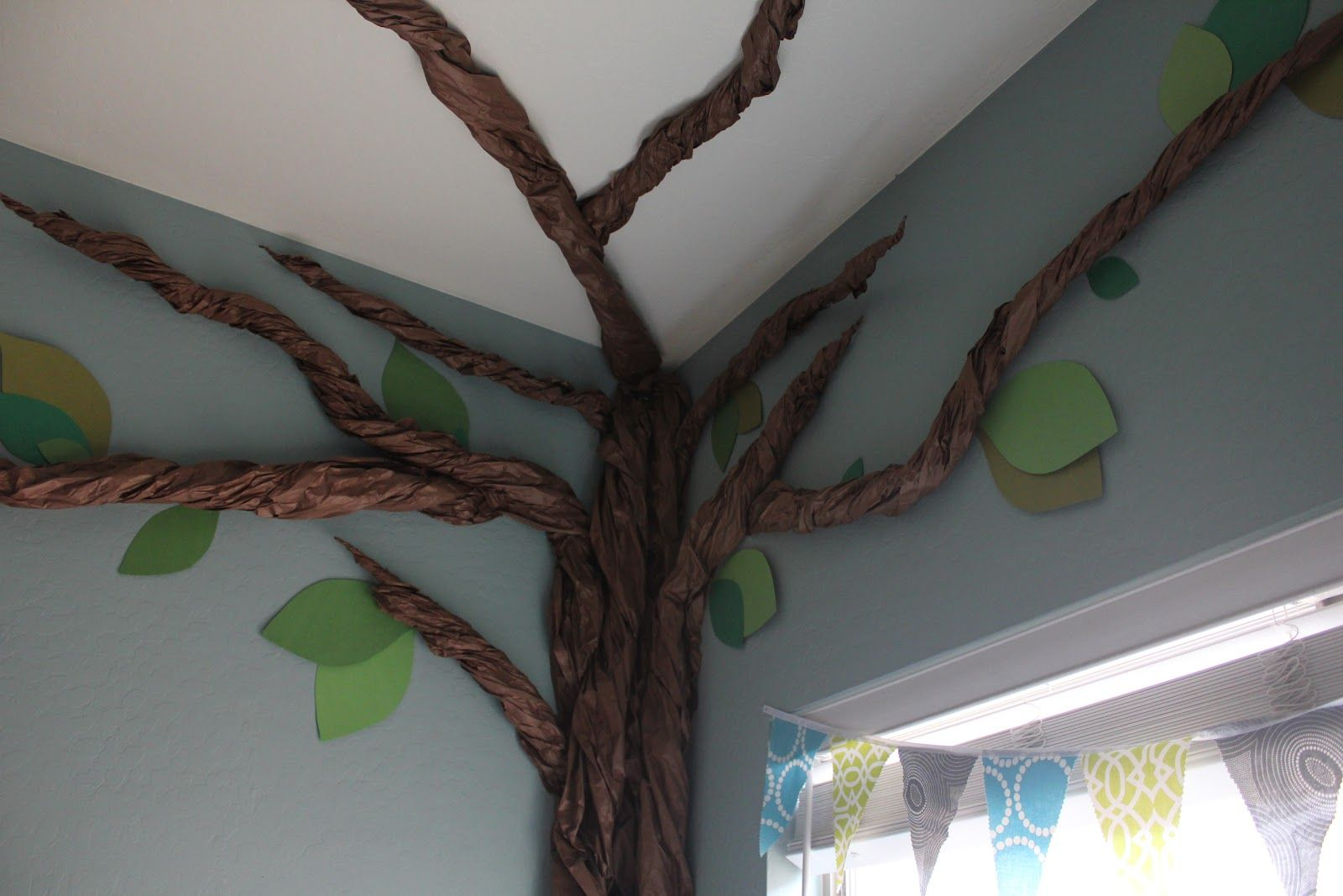 Brown Butcher Paper Twisted To Make Trunk Classroom Tree Paper Tree Paper Tree Craft