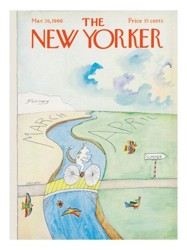 The New Yorker Cover - March 26, 1966 Poster Print by Saul Steinberg at the Condé Nast Collection