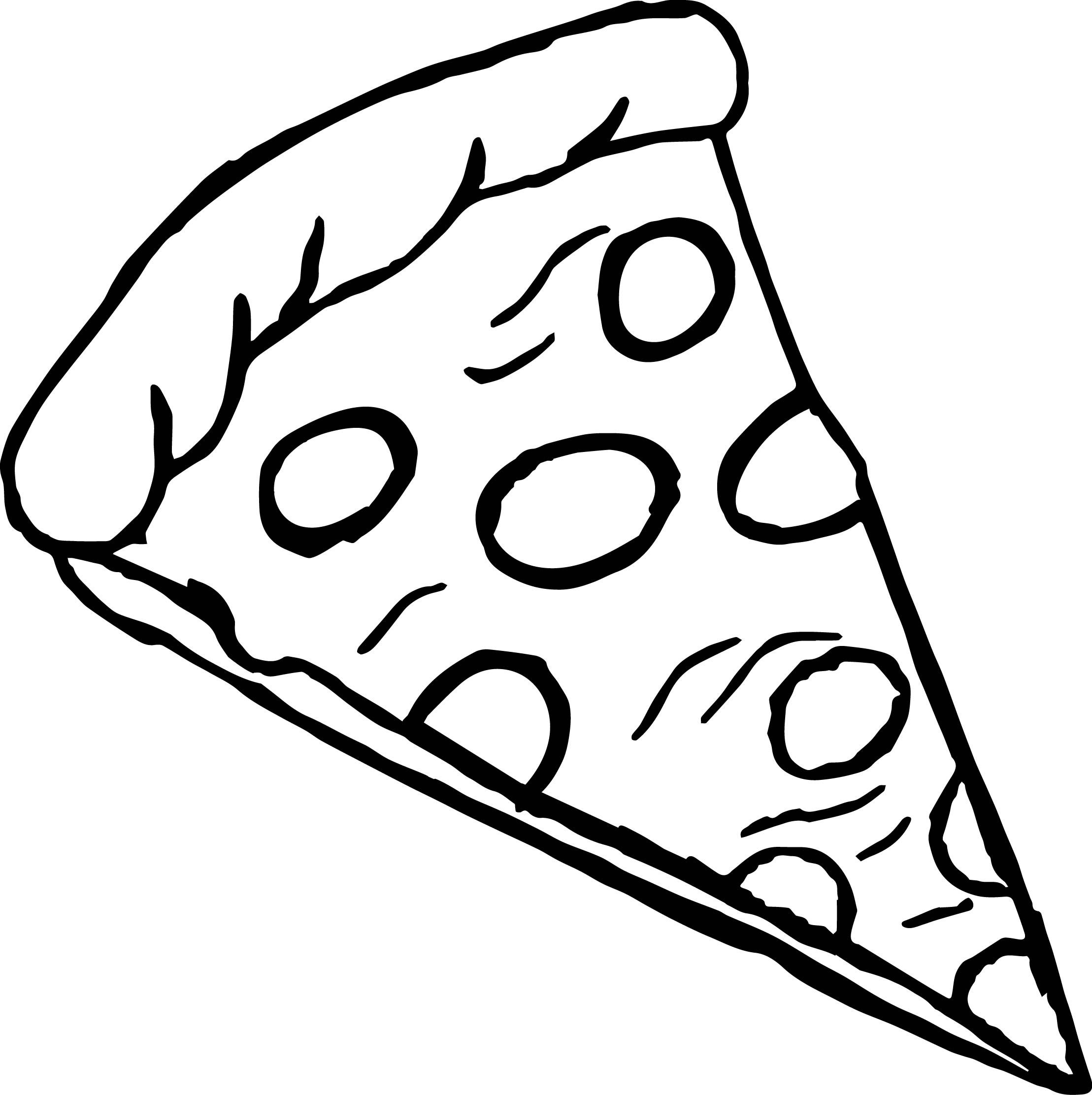 Nice Pepperoni Pizza Coloring Page